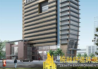 浙江华坤地质科技大厦效果图(水源热泵)